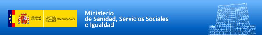 Banner del Ministerio de Sanidad, Servicios Sociales e Igualdad